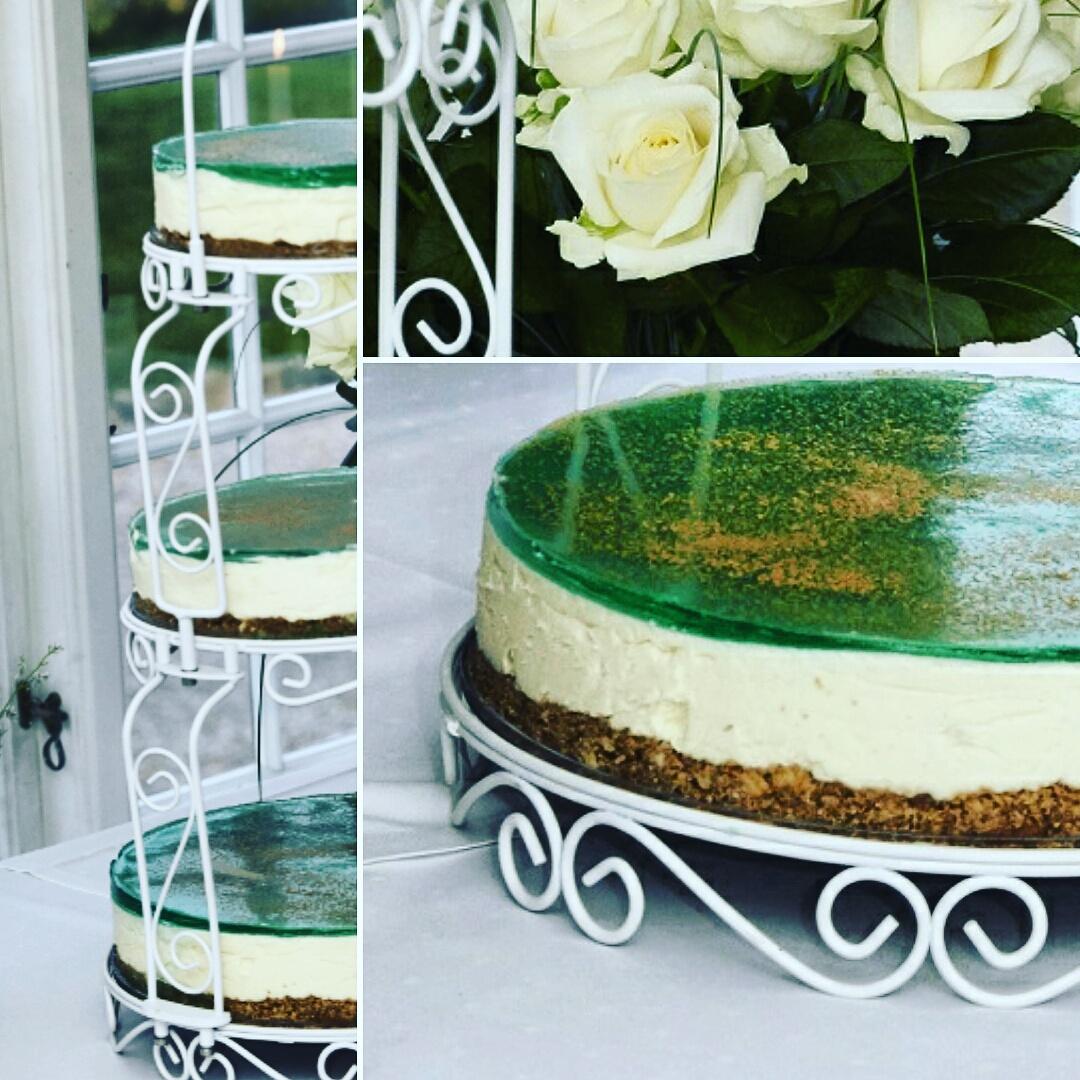 Cheesecake hyldeblomst hvid chokolade pære citron lakrids